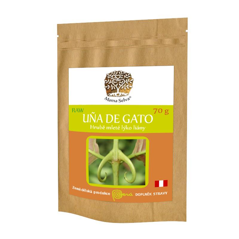 Uña de Gato / Vilcacora – RAW Hrubé mletí LONG CUT vnitřního lýka liány