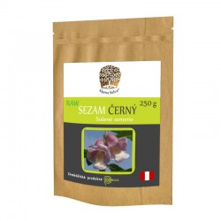 SEZAM ČERNÝ 250 g - RAW Neloupaná semena vypěstovaná v Peru