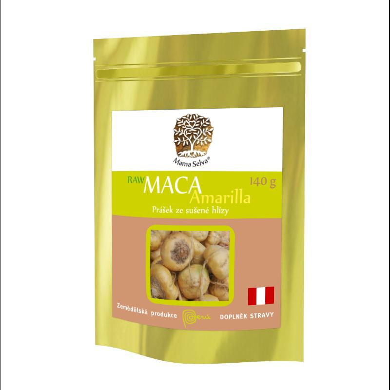 MACA Amarilla -  RAW žlutá maka z Peru